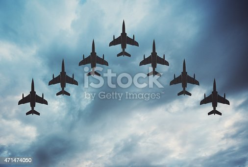 istock Fighter Jets in Formation 471474050