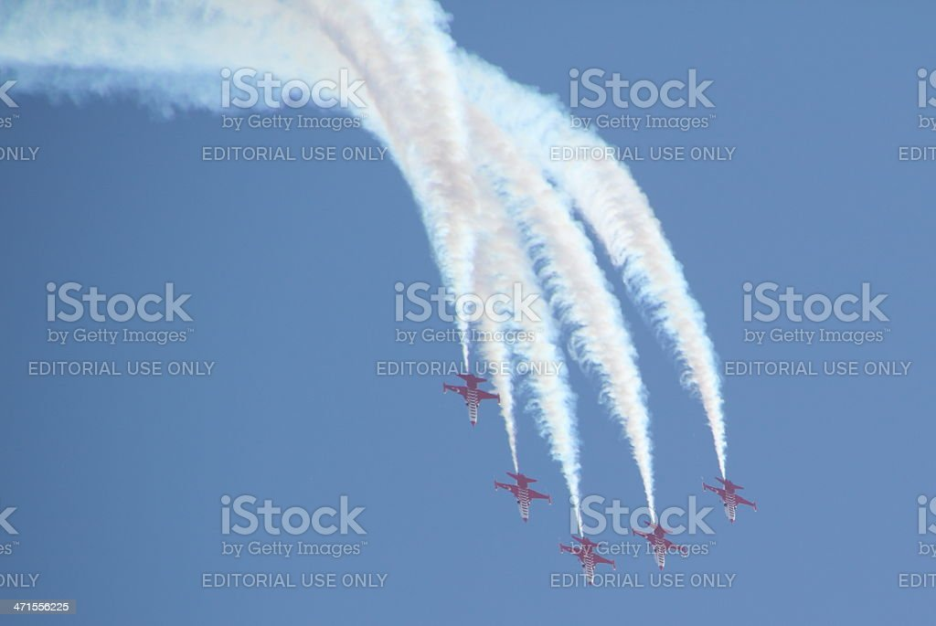 fighter jets performance royalty-free stock photo