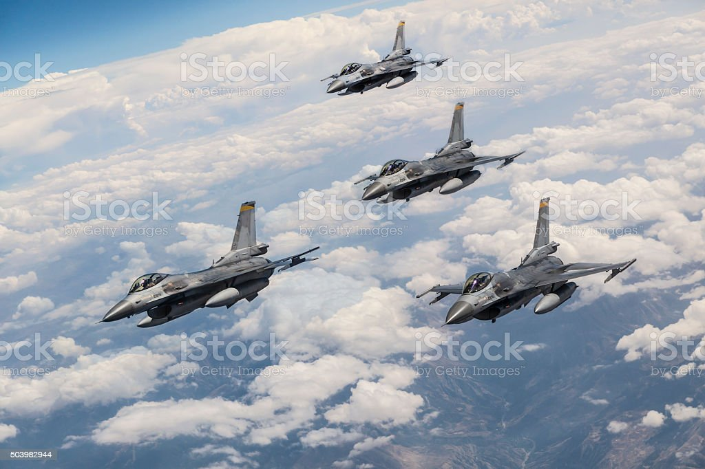 Fighter jets stock photo