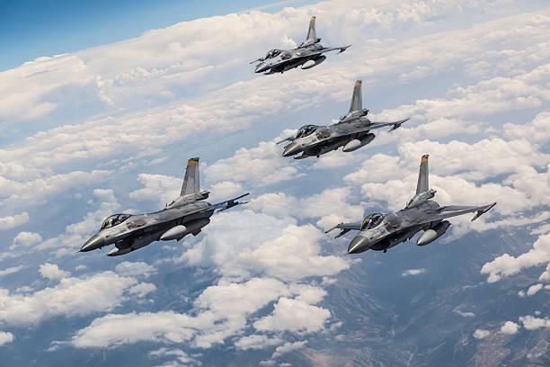 Fighter jets stock photo