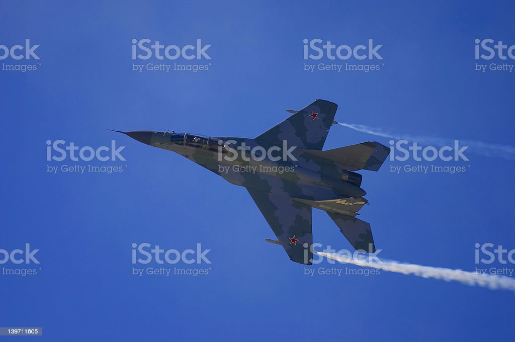 fighter MIG-29 #3 stock photo