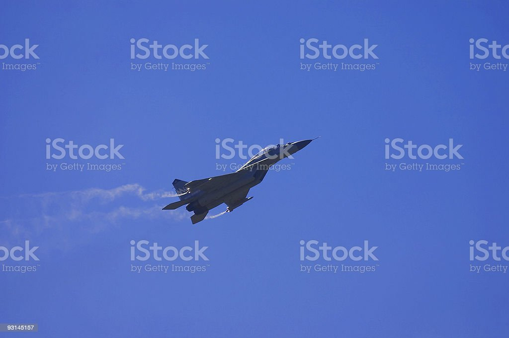 fighter MIG-29 stock photo