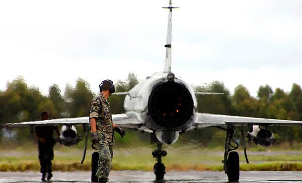 Fighter on Alert stock photo