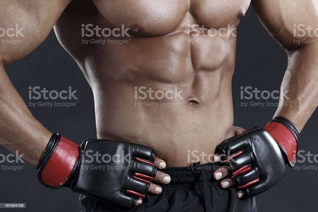 MMA fighter royalty-free stock photo