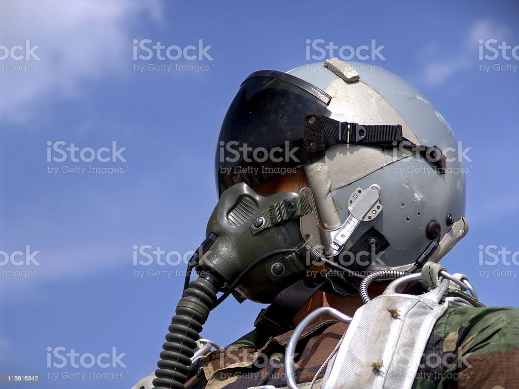 Fighter Pilot Close-up royalty-free stock photo