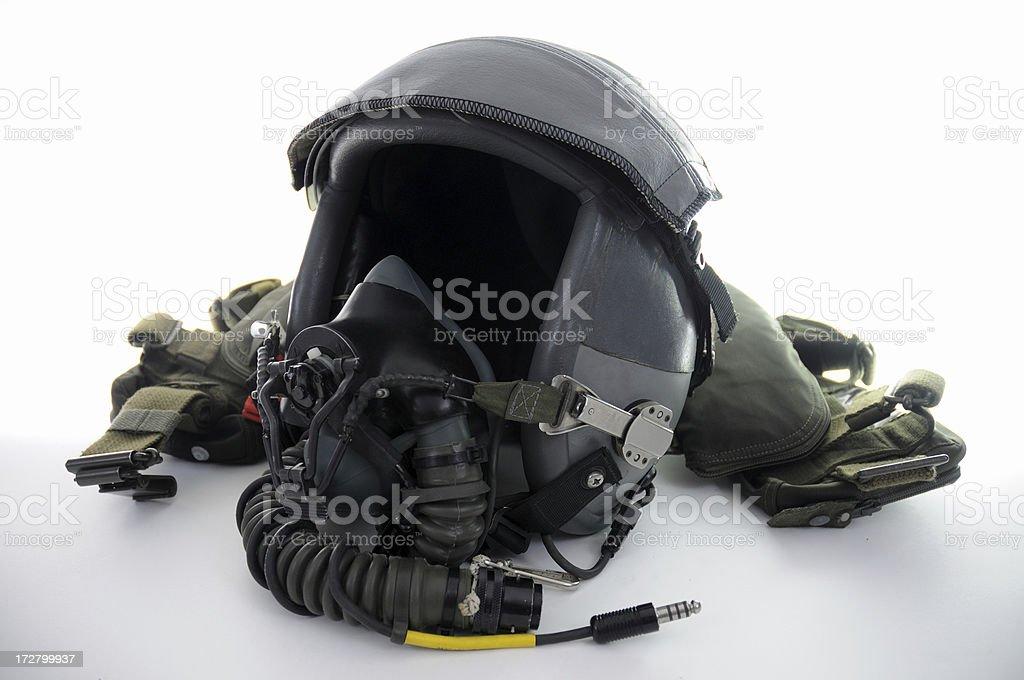 Fighter Pilot Helmet royalty-free stock photo