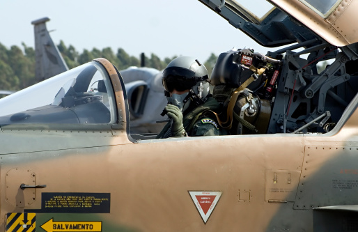F5e Fighter Pilot Stock Photo - Download Image Now