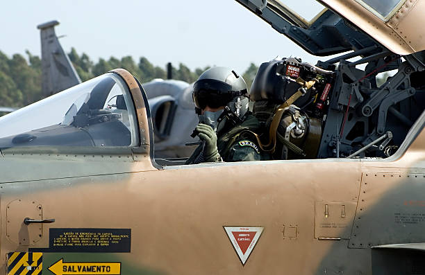 F-5E Fighter Pilot A F-5E fighter jet pilot! air force stock pictures, royalty-free photos & images