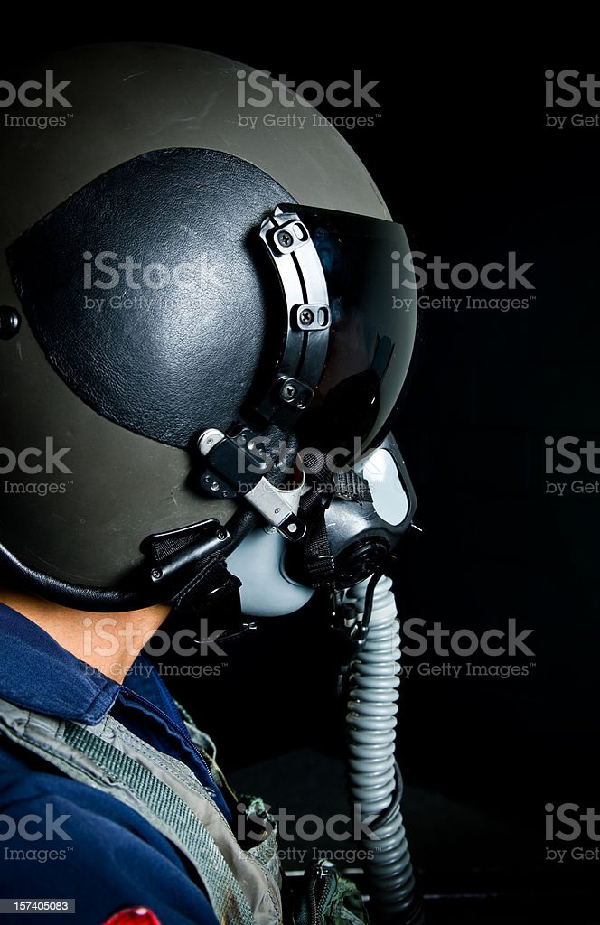 Fighter pilot royalty-free stock photo