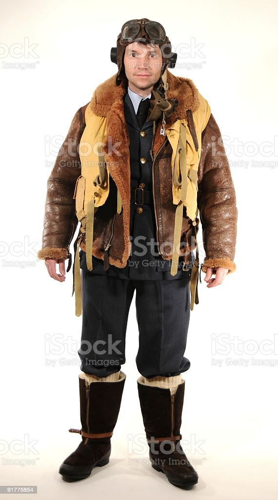 WW2 R.A.F. fighter pilot uniform stock photo