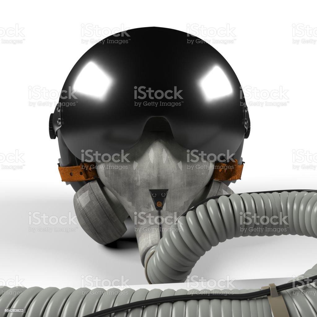 Fighter pilot's helmet royalty-free stock photo