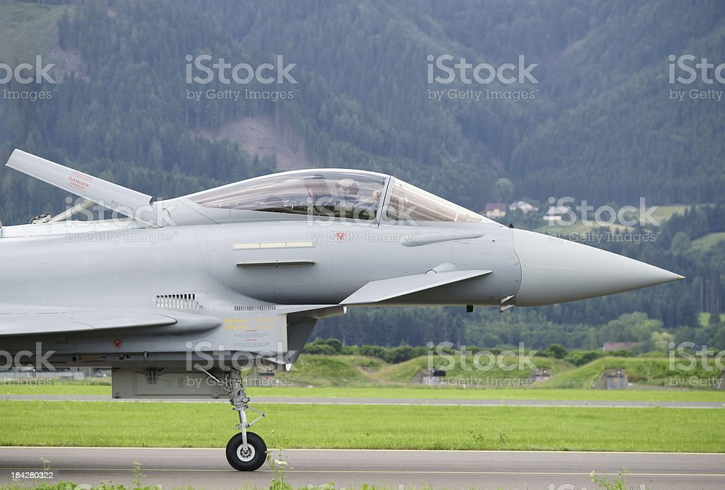Fighter plane cockpit close-up royalty-free stock photo
