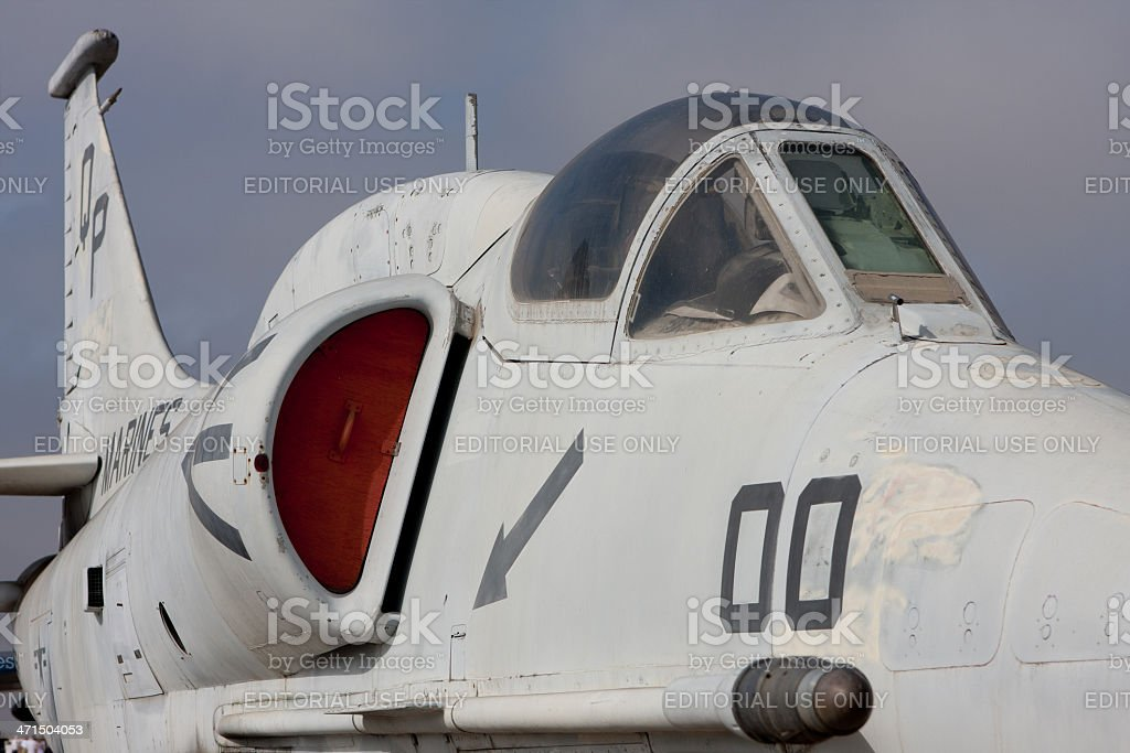 Fighter Plane Front View stock photo