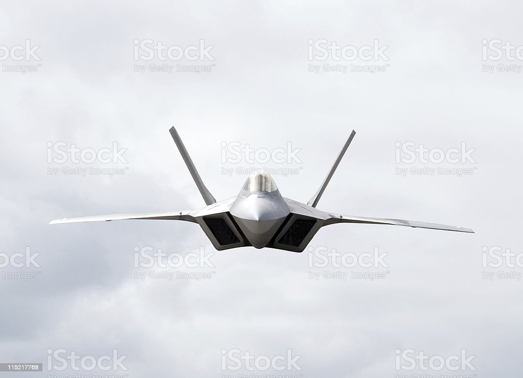 Fighter Plane Heading Towards the Camera stock photo
