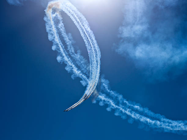fighter planes in airshow - airshow stock photos and pictures