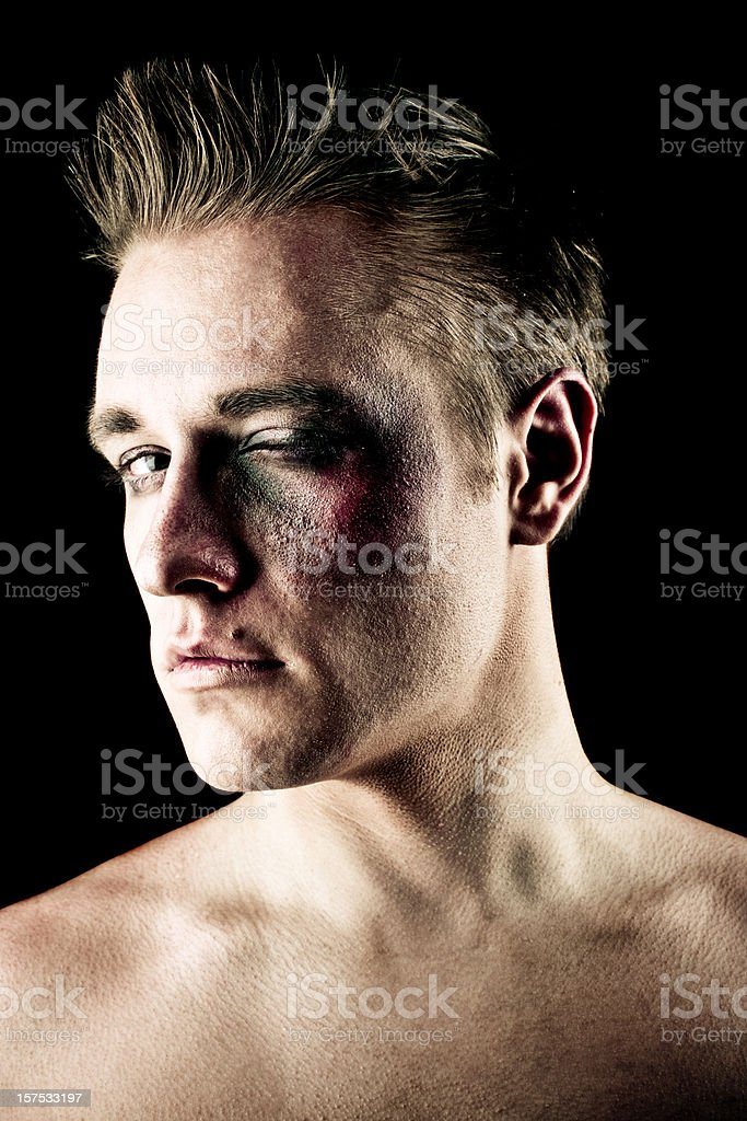 Fighter portrait royalty-free stock photo