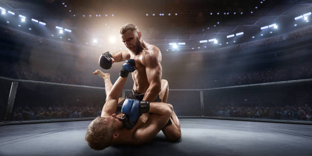 MMA-Kämpfer in professioneller Boxring – Foto