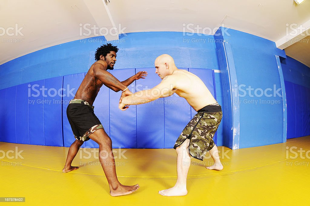 Fighters Practicing stock photo