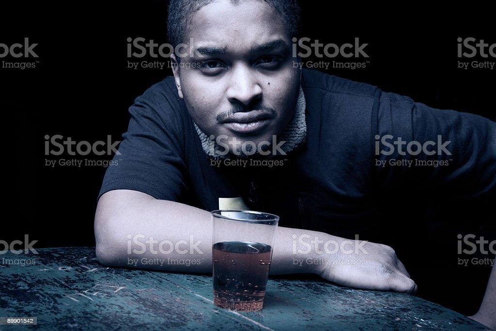 Fighting alcoholism royalty-free stock photo