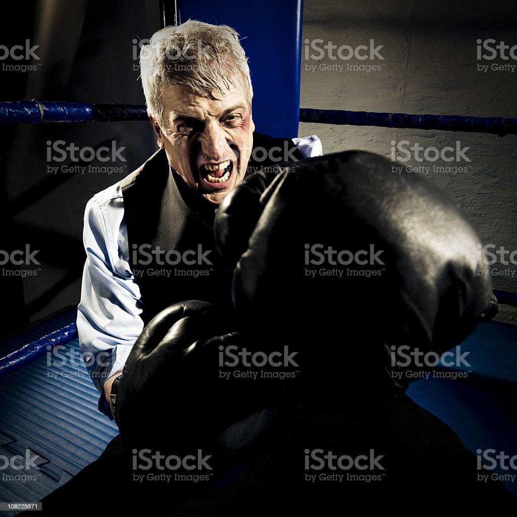 Fighting Back. royalty-free stock photo