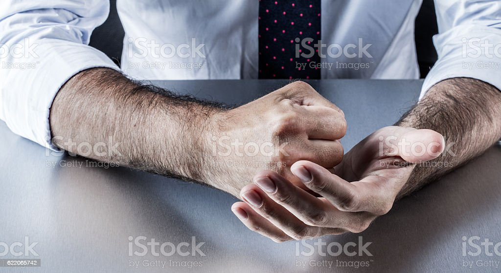 fighting corporate hands expressing resolution, conviction, anger or annoyance protesting stock photo