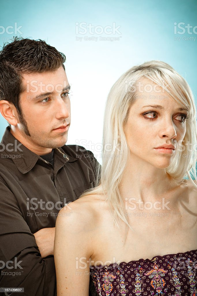 fighting couple with crying girl royalty-free stock photo