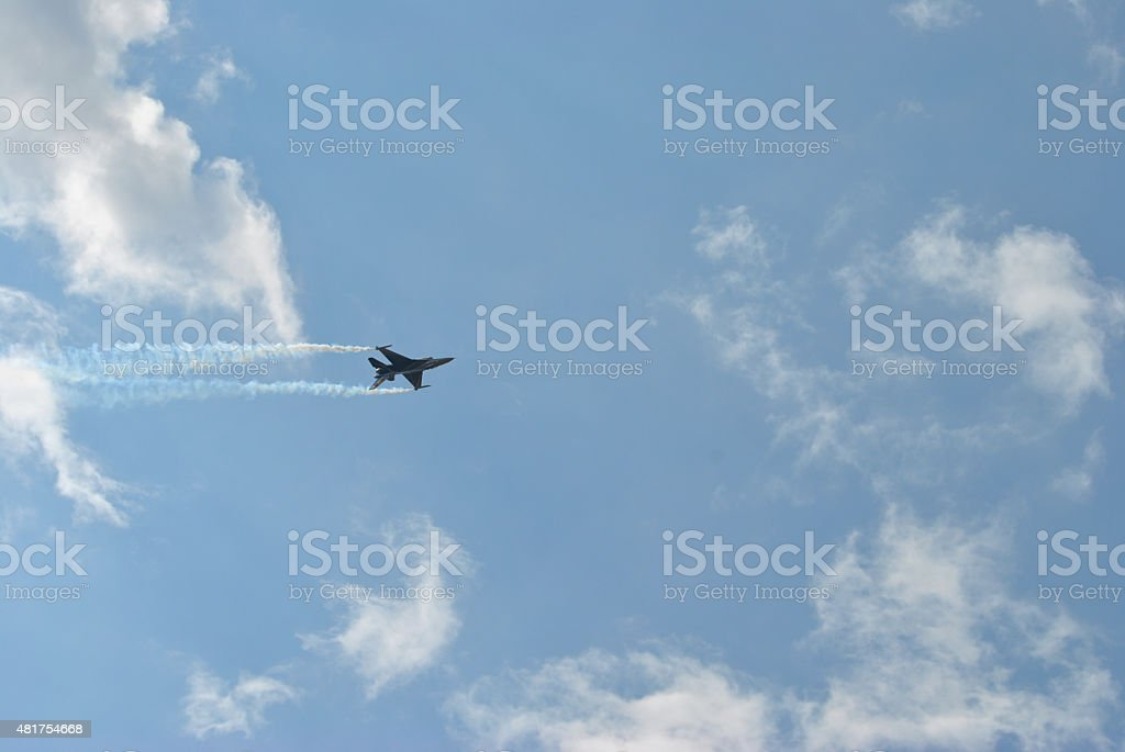 F-16 Fighting Falcon airshow stock photo