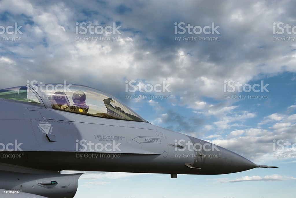 F-16 Fighting Falcon Jet Fighter Pilot royalty-free stock photo