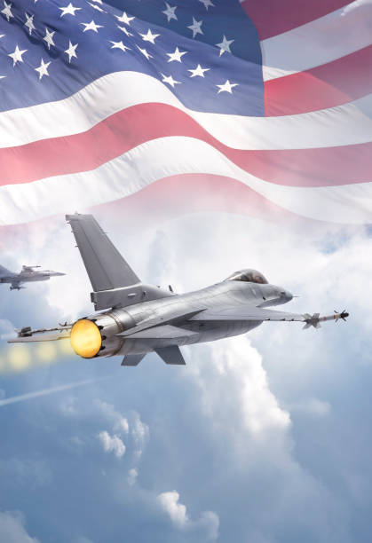 F-16 Fighting Falcon military jets (models) fly through clouds with American flag F-16 Fighting Falcon military jets (models) fly through clouds with American flag f 16 fighting falcon stock pictures, royalty-free photos & images