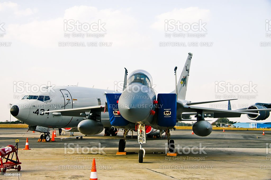 F-16C Fighting Falcons stock photo