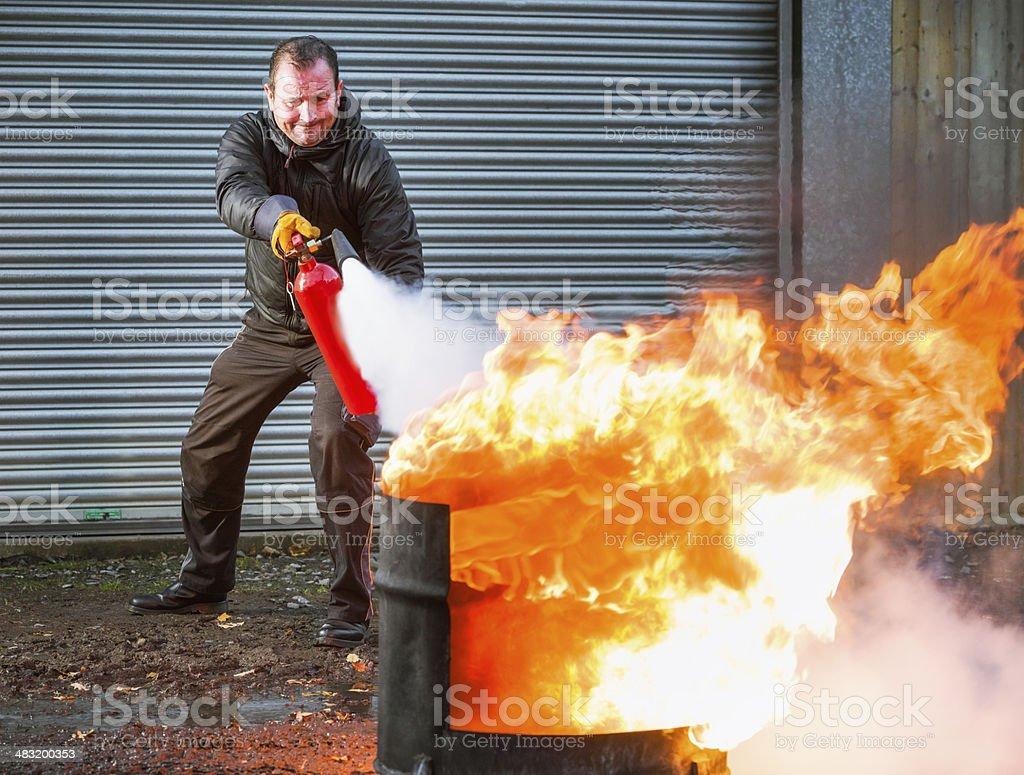 Contra el fuego - foto de stock