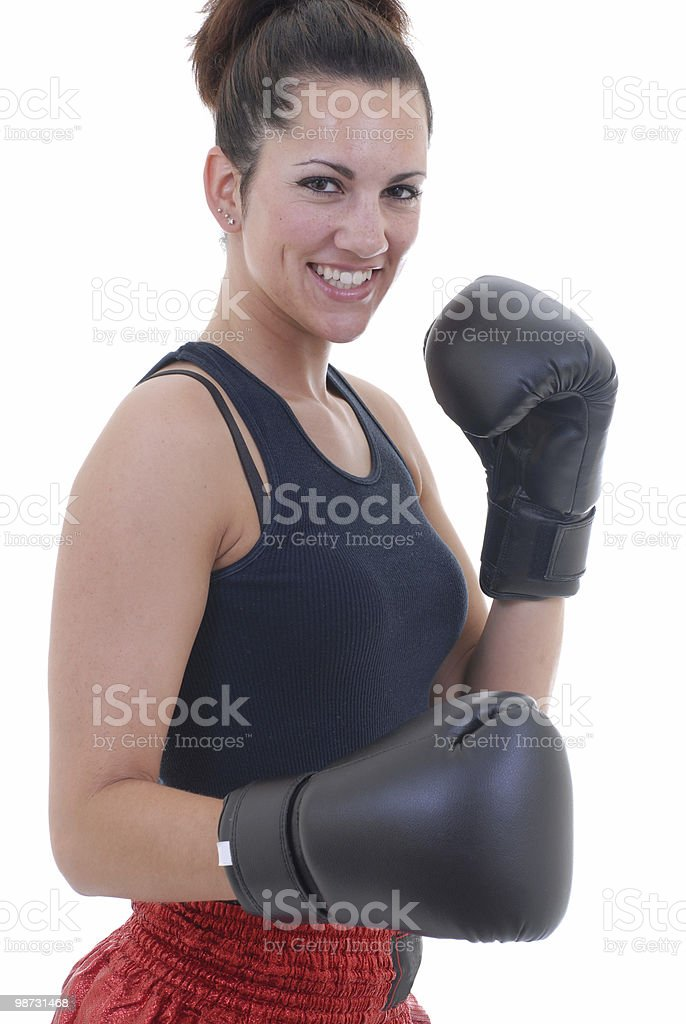 Fighting fitness royalty-free stock photo