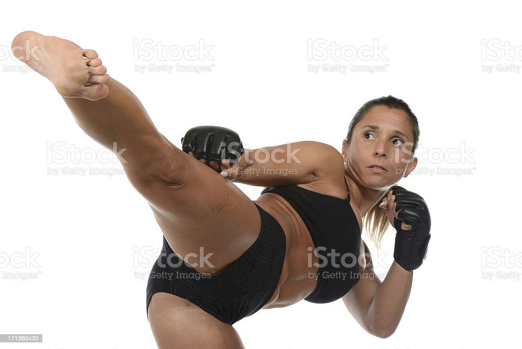 Fighting Fitness professional stock photo