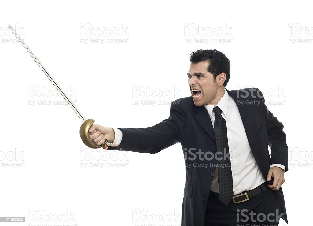 Fighting For Business stock photo
