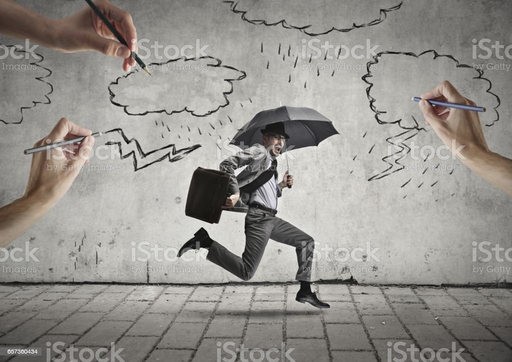Fighting for surviving stock photo