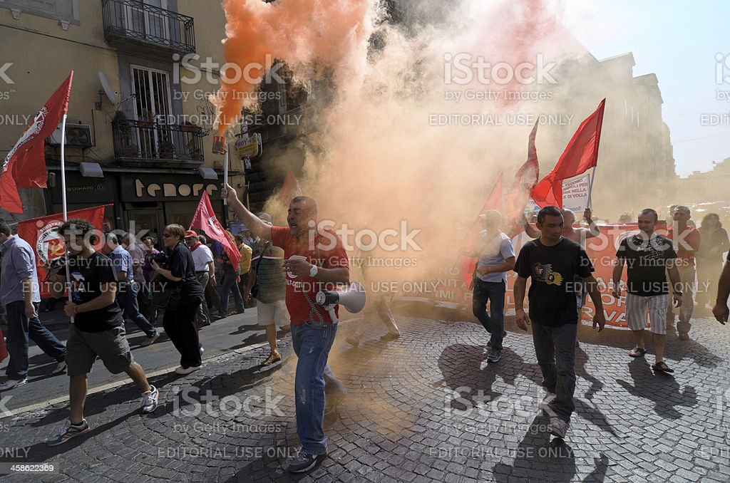 Fighting for their rights (Italy) royalty-free stock photo