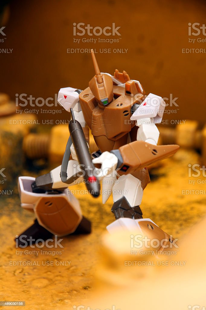 Fighting in Macross stock photo