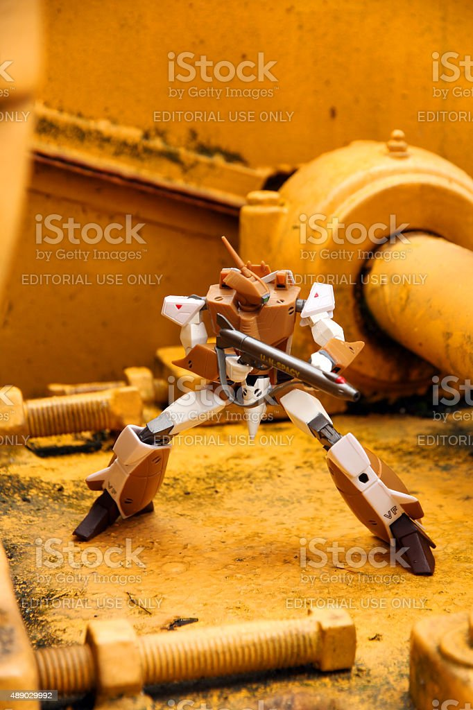 Fighting in the Factory stock photo