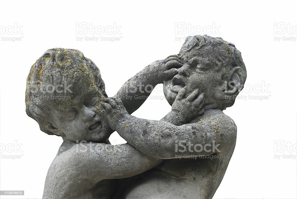 Fighting kids stock photo