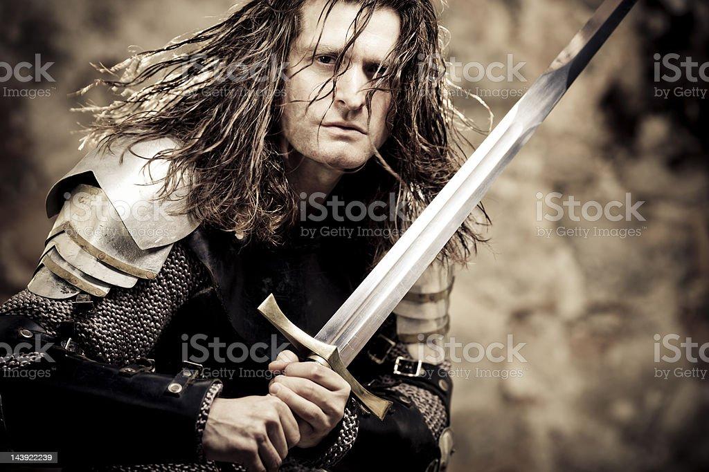fighting knight stock photo