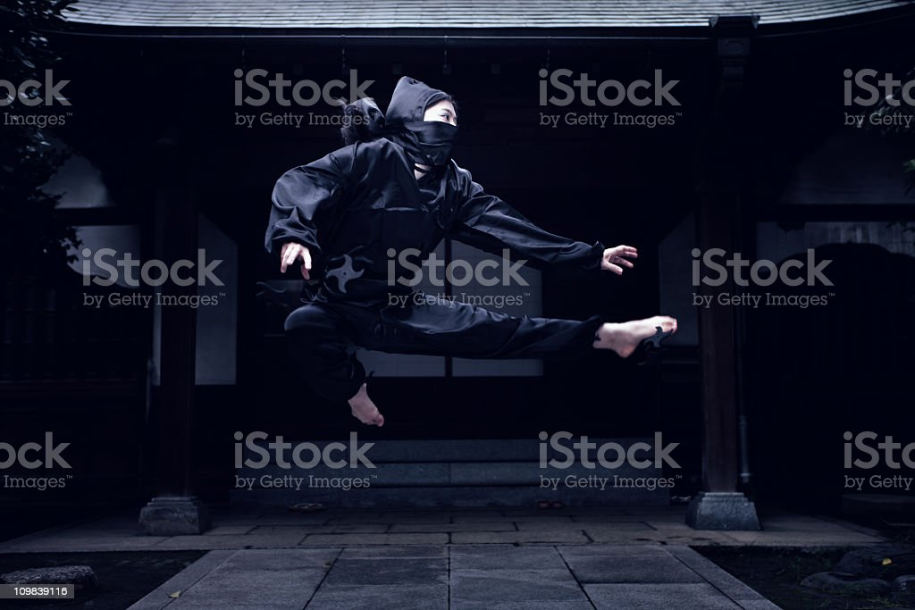 Fighting Ninja stock photo