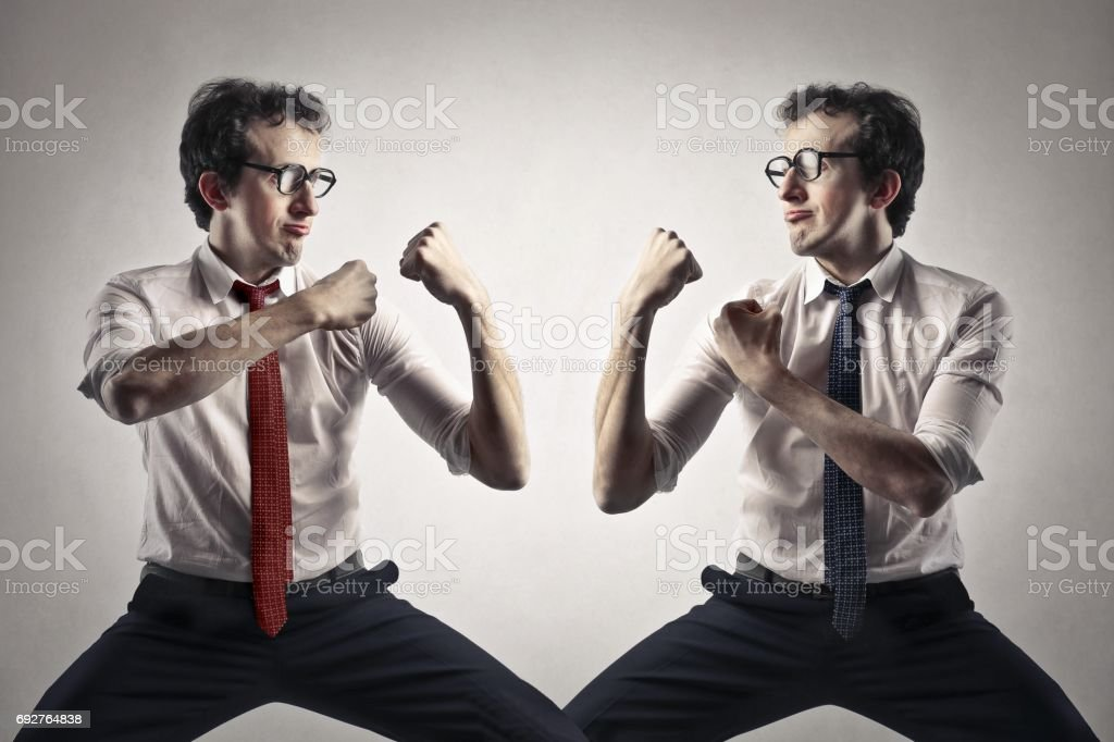Fighting stock photo