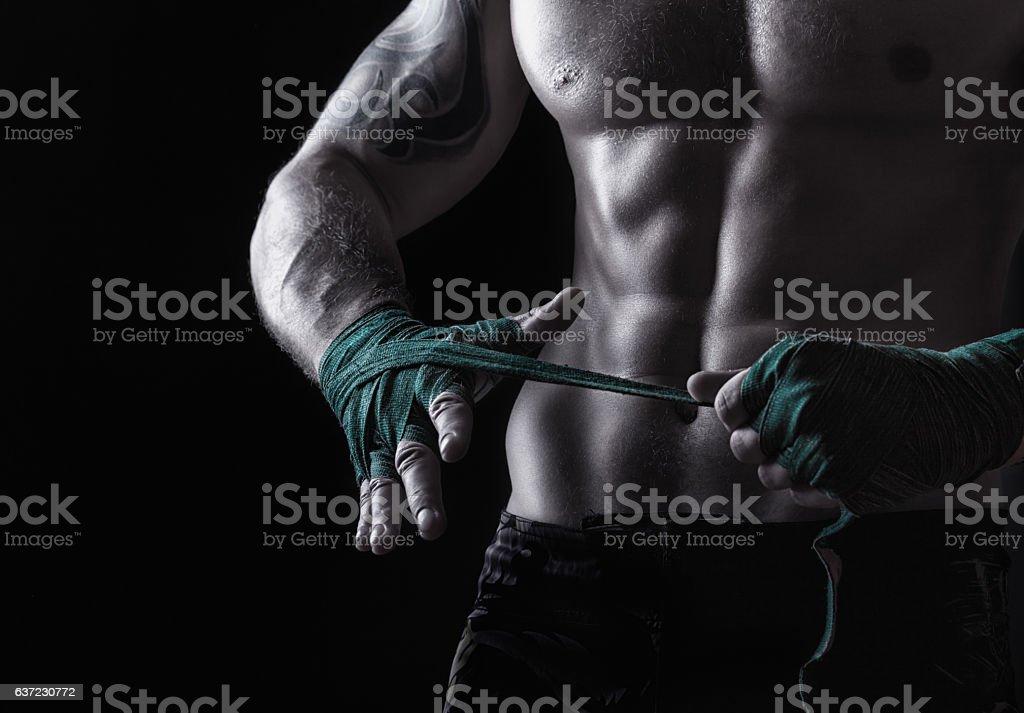 Fighting preparation stock photo