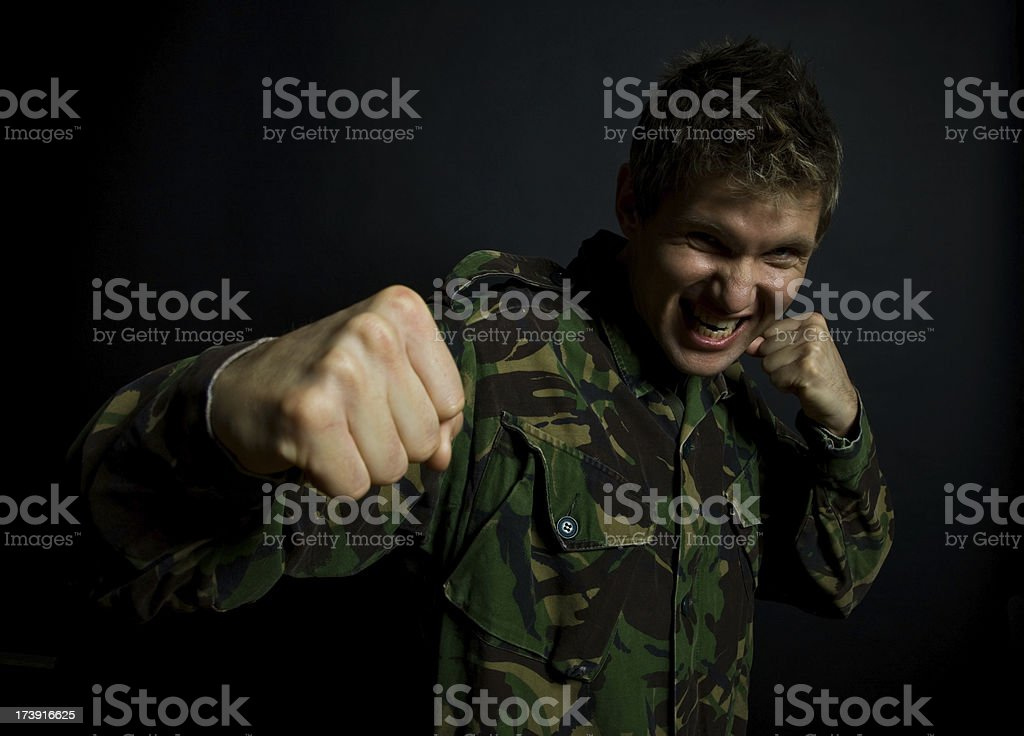 Fighting Soldier royalty-free stock photo