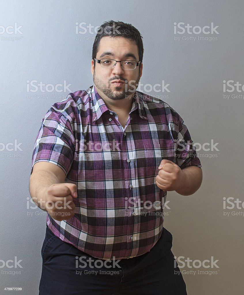 Fighting stance stock photo