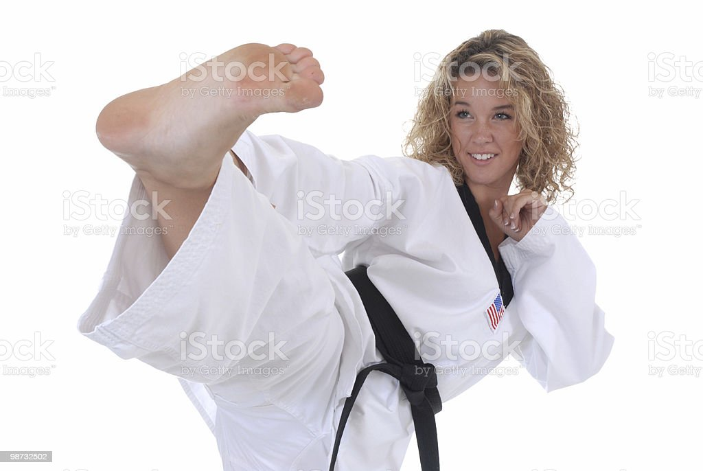 Fighting techniques royalty-free stock photo