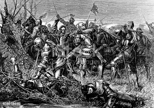 istock Fighting The Battle of Otterbourne, Scotland, 1388 628518446