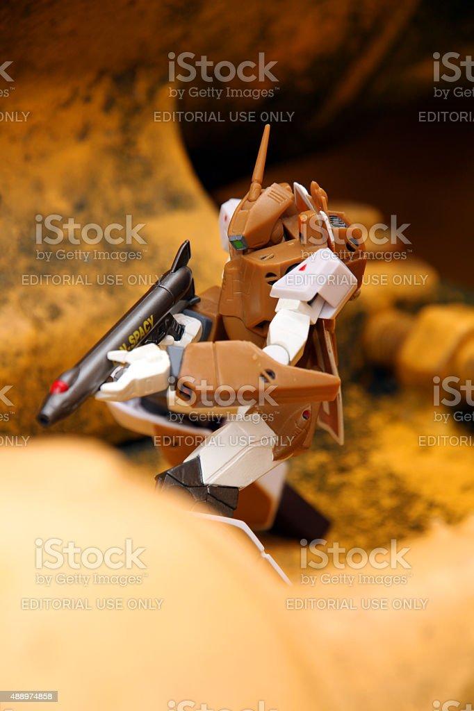 Fighting the Zentraedi stock photo