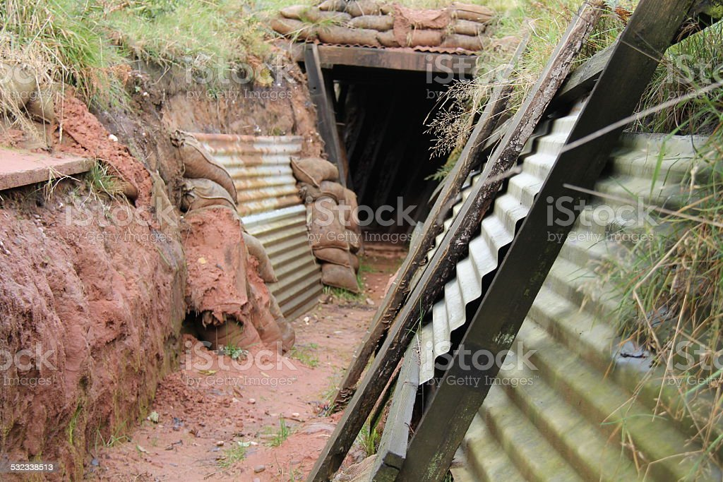 Fighting Trench. stock photo