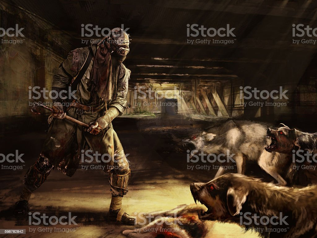 fighting with mutants stock photo